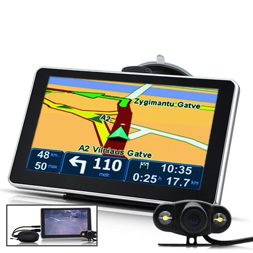 "Wholesale 6"" Touchscreen GPS Navigator with Rearview Camera, Bluetooth, FM Transmitter"