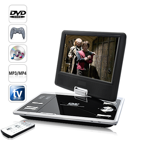 9 Inch Portable DVD Player (600x480, Remote, Region Free)