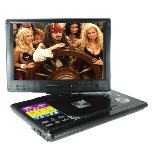 12 Inch Portable Multimedia DVD Player (Swivel Screen, 600 x 480, TV)