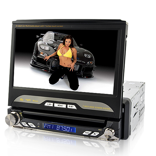 King Viper Lite - In Dash 1 DIN Car DVD (Swivel, Detachable, Remote)