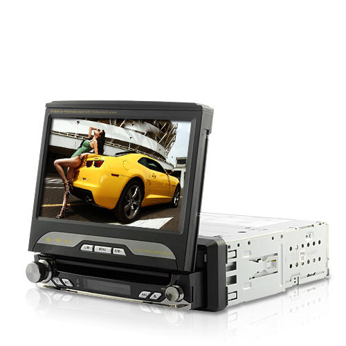 King Viper GPS Lite - In Dash 1 DIN Car DVD Player (GPS, Swivel, Detachable