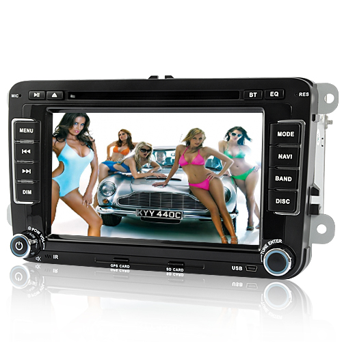 Road Blitz - 7 Inch 2 DIN Car DVD Player with GPS, DVB-T for Volkswagen