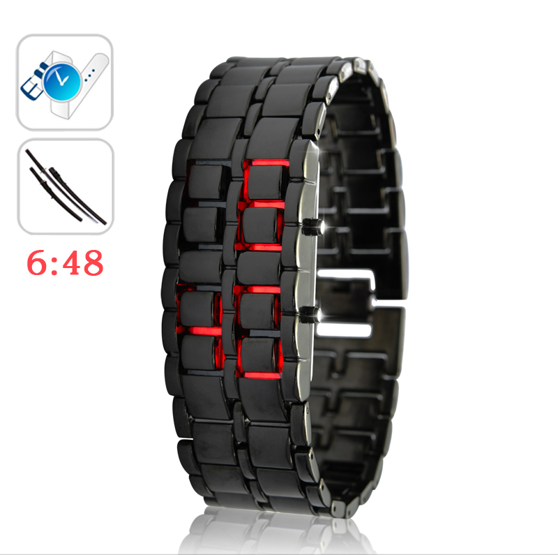 Wholesale Iron Samurai - Japanese-inspired LED Watch - Red
