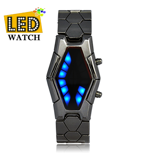 Wholesale Sauron - Japanese-inspired LED Watch - Red and Blue