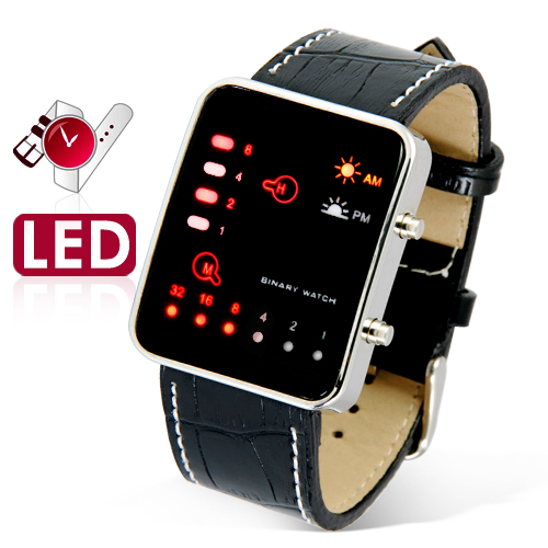 The Singularity - Japanese-inspired LED Watch - Red and Yellow