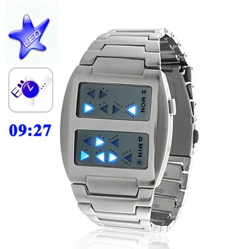 Wholesale Templar - Japanese-inspired LED Watch (Cold Burning Blue)