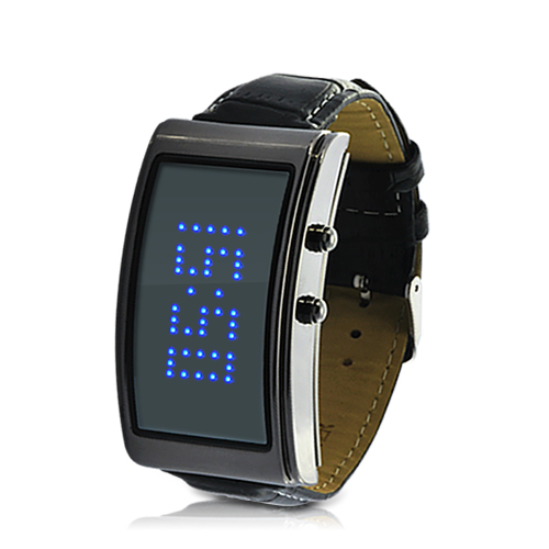 Wholesale Blue Romance - Ladies LED Watch with Scrolling Blue Text