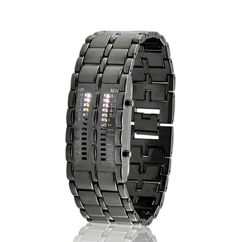 Wholesale Elite Clock - Army Style LED Watch with 28 White LED Lights