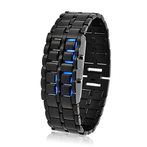 Wholesale Dark Samurai - Japanese-inspired LED Watch (Burning Blue LED)