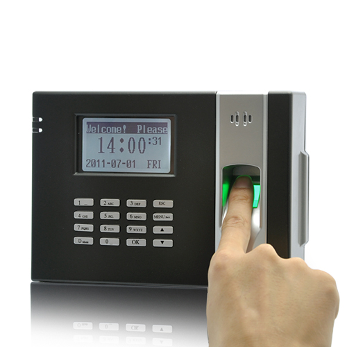 Wholesale Fingerprint Time Attendance Device + Door Lock (Black)