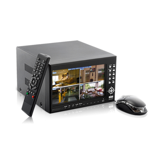 Wholesale 4-Channel DVR Security System (7 Inch LCD, 2x SATA HDD Port, H.2