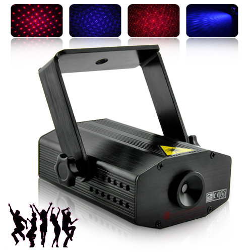 Sound Activated 100mW Red/Purple Laser Show Projector