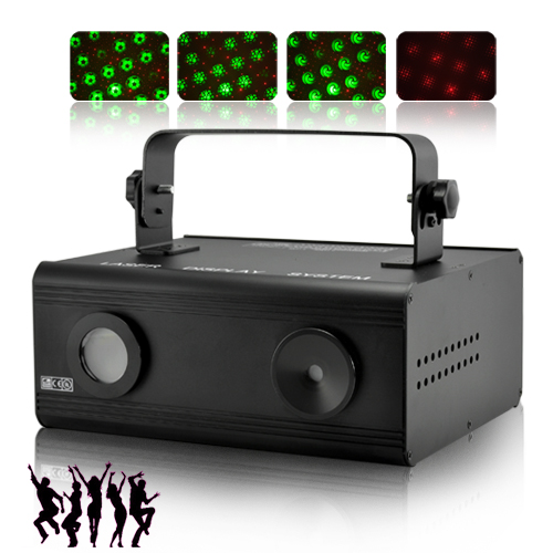 Double Laser Projector with Sound Activation - DMX 512 IN & OUT