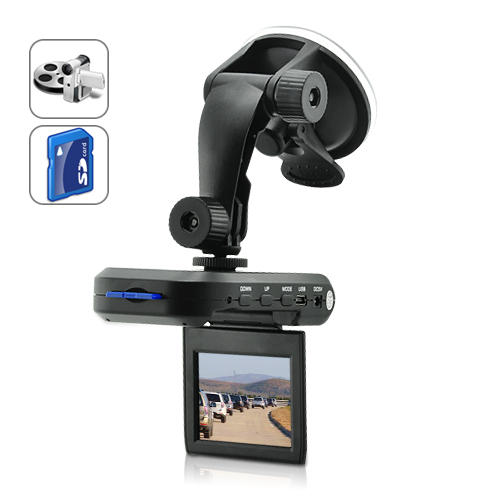 Mini Car DVR with 2.5 Inch LCD Screen (Motion Detection, 1280x960)