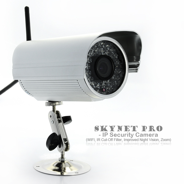 Skynet Pro - 1/4 inch CMOS IP Security Camera (WiFi, 36 IR LEDs Night Vision)