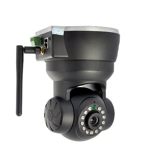 WiFi IP Camera with Remote Angle Control (Motion Detection, iPhone Login)