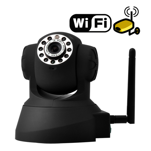 IP Security Camera with Angle Control and Motion Detection (Black)