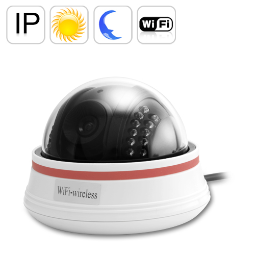 Nightvision Wireless IP Camera -White (22 IR LEDs, Motion Detection)