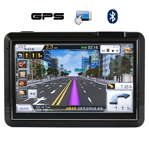 GuideStar - 4.3 Inch Touchscreen GPS Navigator with Multimedia System
