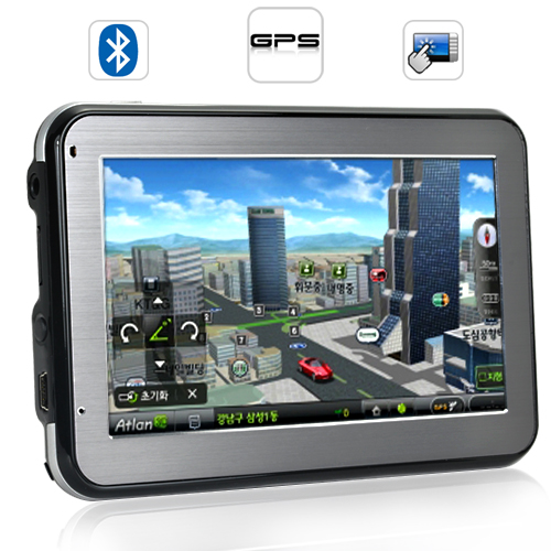 "Wholesale Land Cruiser - 4.3"" Touchscreen GPS Navigator (Bluetooth, FM transmitter)"