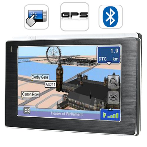 "Wholesale Media Star - 4.3"" Touchscreen GPS Navigator (Multimedia player, FM Transmitter)"