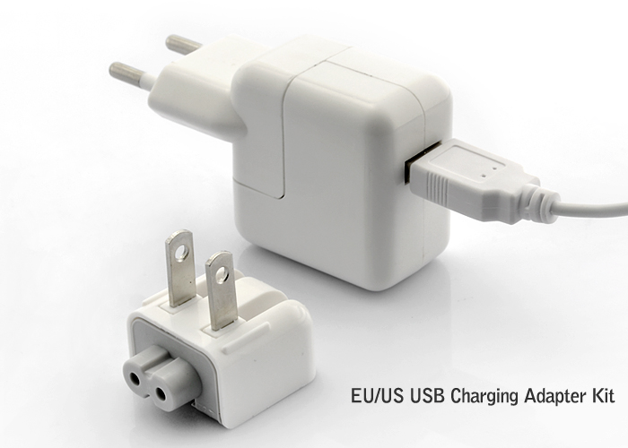 Wholesale USB Charge Adapter Kit for iPhone/iPod/iPad and More - EU/US Outlet Style