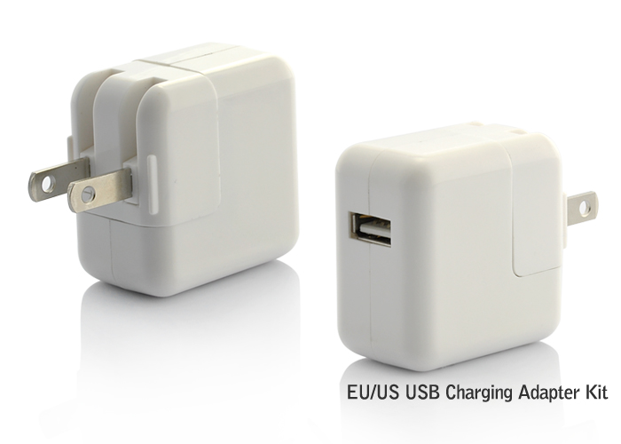 USB Charge Adapter Kit for iPhone/iPod/iPad and More - EU/US Outlet Style