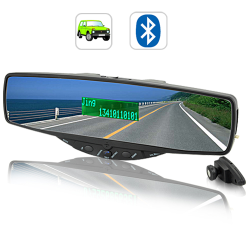 Bluetooth Rearview Car Mirror with Speaker and MIC