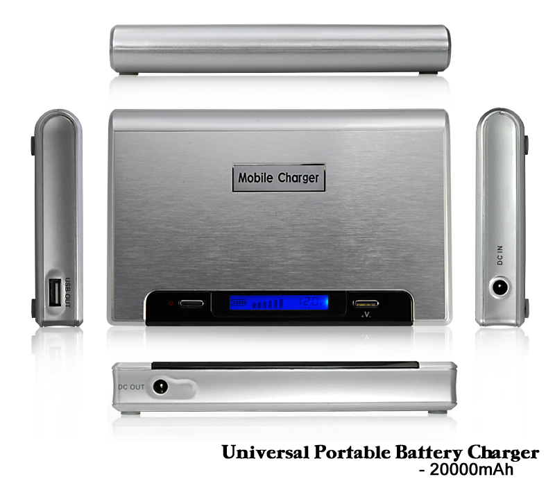Portable 20000mAh Battery Charger for Cell Phones and Laptops