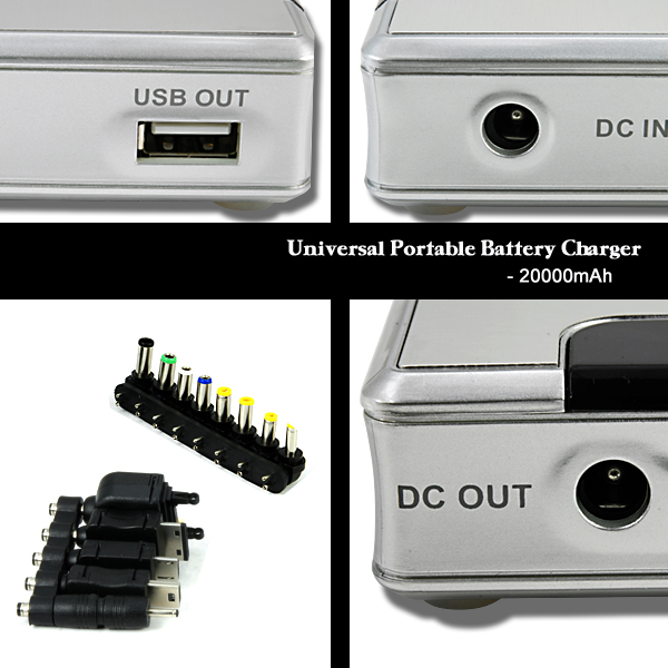 Portable 20000mah Battery Charger For Cell Phones And