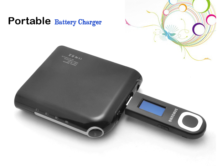 Portable 8800mAh USB Battery Charger with 8 Connectors for Laptops