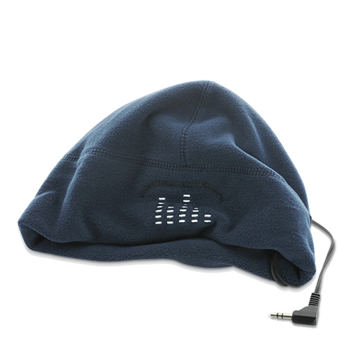 Warm Beanie Hat with Headphones (Blue)