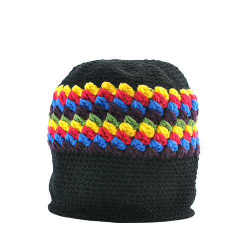 Warm Beanie Hat with Headphones (Retro Rasta)