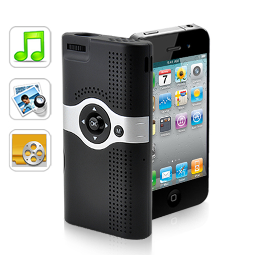 Mini Projector with 1700mAh Rechargeable Battery for iPhone