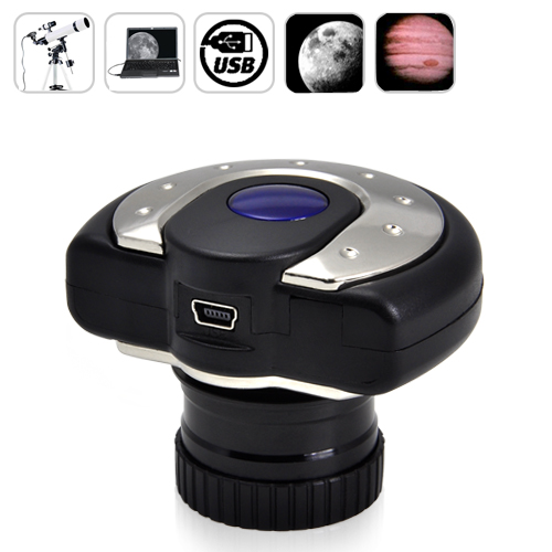 "Wholesale 1/4"" 1.3 MP CMOS Digital Telescope Eyepiece - View and Record to Computer"