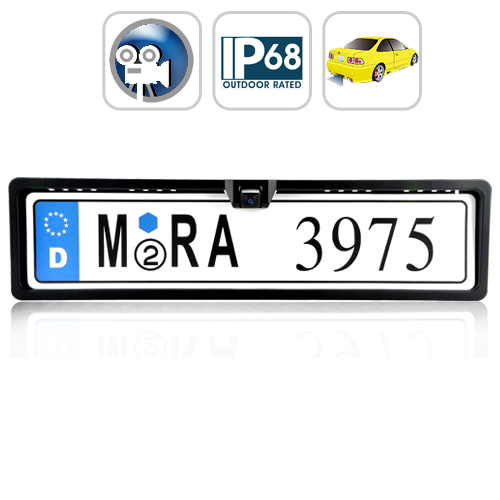 Waterproof Rearview Camera for European EU License Plate