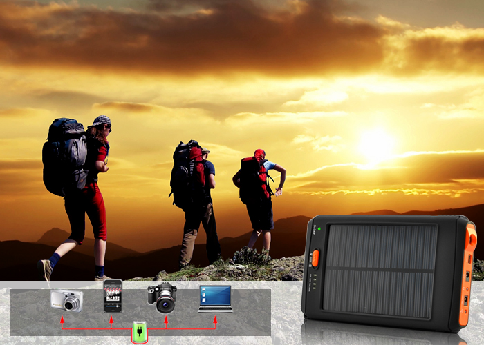 11200mAh Solar Charger and Battery for Laptops, Cell Phones and USB Device