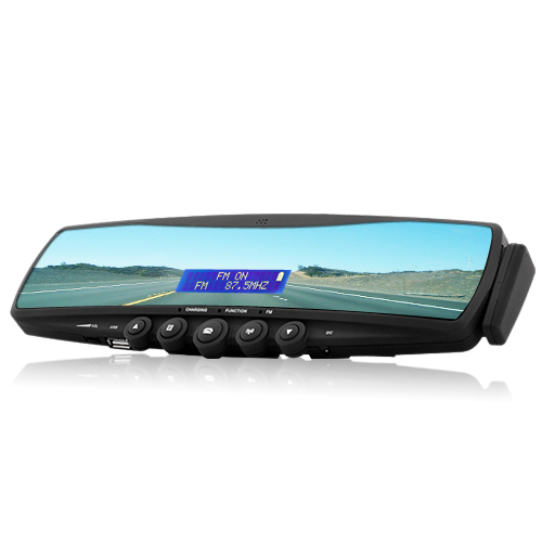 Wholesale Mini Bluetooth Car Rearview Mirror with MP3 Player and FM Radio - Easy DIY