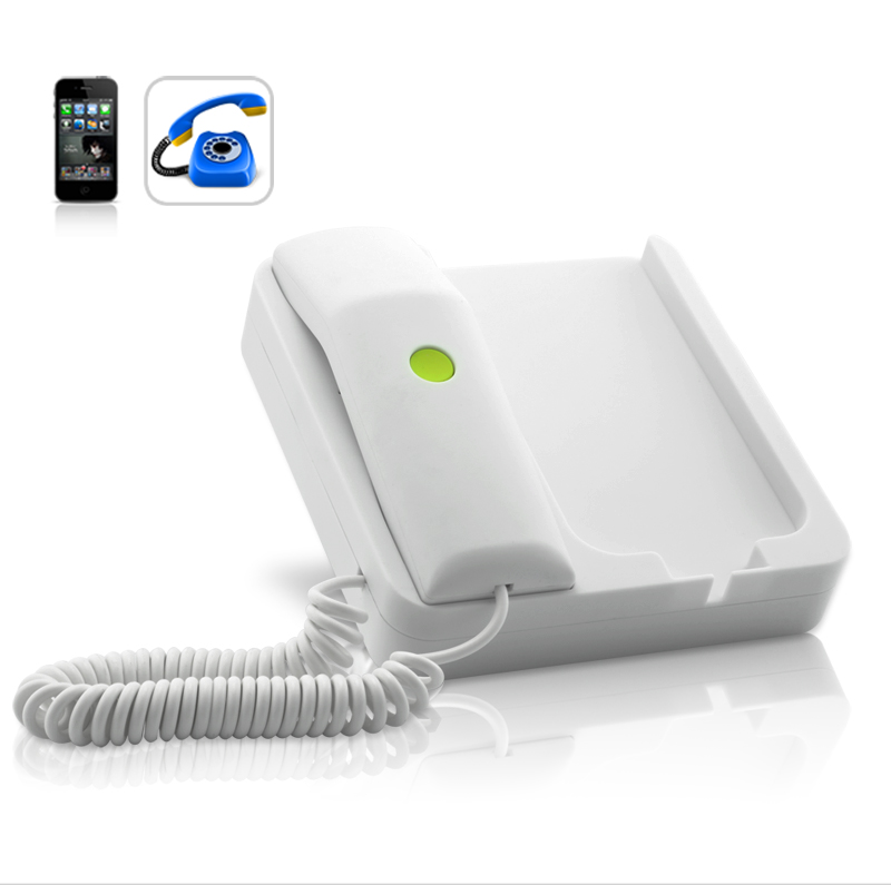 Wholesale Classic Telephone Dock with Speakers - White