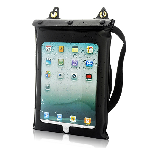 IPx8 Waterproof Case and Earphones for iPad, iPad 2, Android Tablet PC