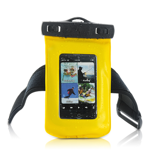 Wholesale IPx8 Waterproof Case for iPhone, iPod, Android Phones, MP4 - Yellow