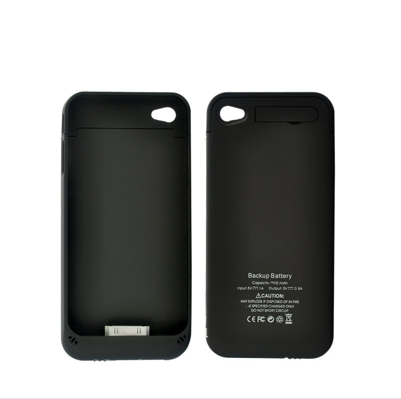 Wholesale Slim iPhone Case with 1500mAh Battery - Black