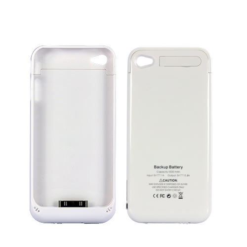 Slim iPhone Case with 1500mAh Battery - White