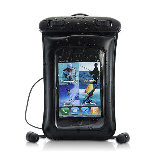 Wholesale Waterproof Case + Earphones - for iPhone, iPod Touch, Android Sm