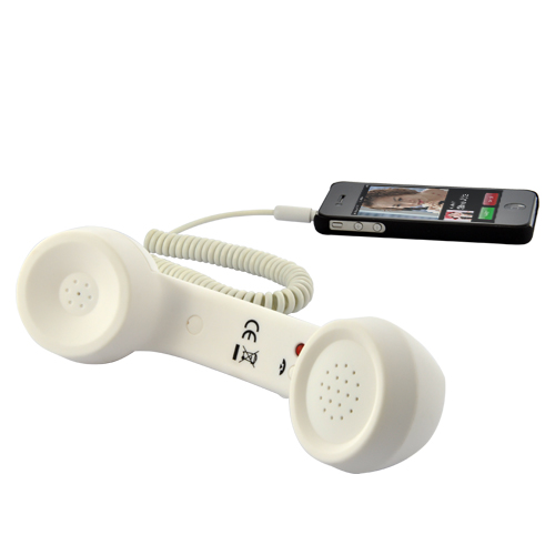Wholesale Old-fashion Handset for iPhone, Android Smartphone, iPad (White, 3.5mm)