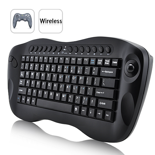 Wholesale Mini Wireless Computer Keyboard with Trackball
