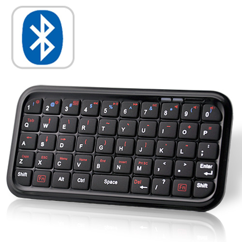 Wholesale Mini Bluetooth Keyboard (49 Key QWERTY, Rechargeable, Black)