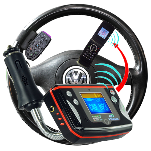 Handsfree Bluetooth Car Kit - Steering Wheel Remote Control