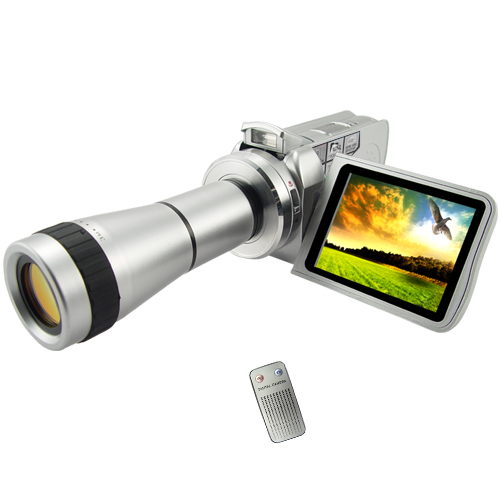 "Wholesale Compact 3.0"" TFT Video Camcorder with Optical Telescope Zoom Lens"