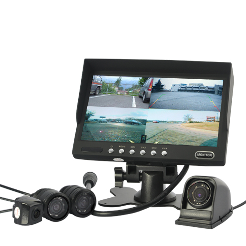 Four Camera Car Monitoring System (7 Inch Monitor, Waterproof, Nightvision)